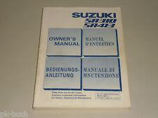 Betriebsanleitung Owner's Manual Suzuki SA310 SA413 Swift Stand 03/1987