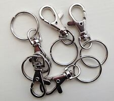 5x Hipster Clasp Clip And Split Ring Metal Silver Tone Clip With Ring