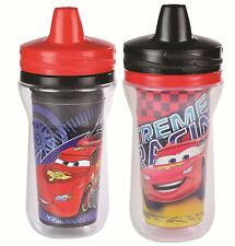 The First Years 2 Pack 9 Ounce Insulated Sippy Cup, Cars/Pattern May Vary, New