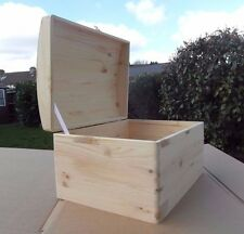 LARGE WOODEN PIRATE CHEST SOUVENIRS BOX WITH  LID & RIBBON 40x30x23.5cm