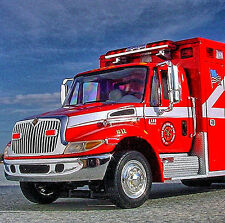 RAREST - New York STATE ASSN. of FIRECHIEFS IH 4400 EMS AMBULANCE - First Gear