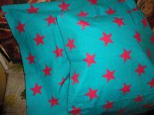 LITTLEMISSMATCHED KOMBOZE TEAL & PINK STARS (PAIR) STANDARD PILLOW SHAMS 21 X 27