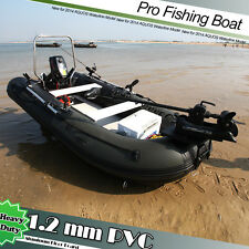 1.2mm PVC 12.5' Inflatable Fishing Boat Tender Dinghy Kayak Zodiac avon Type