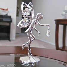 Fairy Figurine  made witrh Swarovski Clear Octagon / Drop Prisms Silver Plated