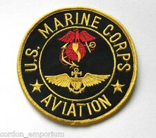 US MARINE CORPS USMC MARINES AVIATION AVIATOR WINGS EMBROIDERED PATCH INCHES