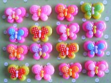 9 x Small Mixed Butterfly Resin Flatback Cabochon Decoden Crafts Embellishments