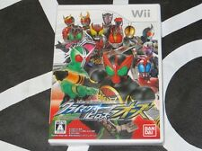 WII Import New Game Kamen Rider Climax Heroes OOO Japan Region Locked