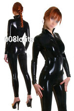 100%Latex Rubber Handsome Suit Unique Bodysuit Black Tights Catsuit Size XS~XXL