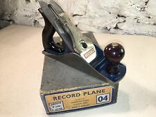 Boxed Record No.04 Smoothing Plane – 1954-56 Original Condition. Made In England