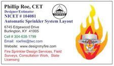 Nicet 3 Fire Sprinkler Design - AutoCAD - Freelance or Licensing Fire Protection