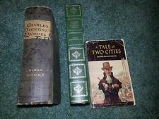 Lot of 3 Charles Dickens Books Great Expectations Tale of Two Cities Bleak House