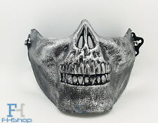 Half Skull Face Halloween Skeleton Fancy Party Dress Protection Mask Silver