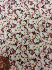 Antique Treasures 100% Cotton fabric Quilting By 1/2 Mtr Tiny Floral Orange