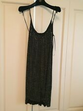 VERSACE x H&M Black Dress with Gold Studs Size 10 BNWT
