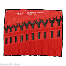 "10pc Jumbo GRIP SAE Combo Wrench Set 1 5/16 - 2"" INCH STD Combination HUGE"
