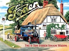Foden, Steam Traction Engine/Wagon, Classic/Vintage Truck, Small Metal/Tin Sign