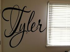 Custom Tyler Boys Room Name Nursery Baby Kids Vinyl Wall Art Quote Sticker