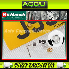 Richbrook Yellow Silver Black Car Van Anti Theft Number Plate Screws Bolts Set