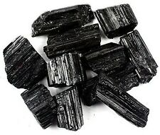 Crystal Allies Materials: 1lb Bulk Rough Black Tourmaline Crystals from Brazi...