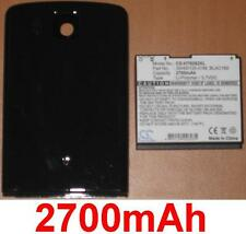 Shell +. Battery 2700mAh type 35H00120-3 4/12ft BLAC160 For HTC Touch HD T8282