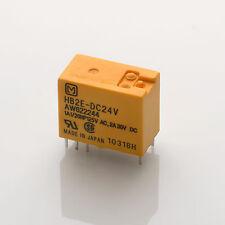 5x HB2E-DC24V Relais / 24V 24VDC / Matsushita Panasonic Aromat Nais