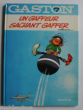 GASTON LAGAFFE #7 Gaffeur Sachant Gaffer BD Franquin 1977 French Comic Book °