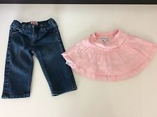 Bundle 2 Items JUICY COUTURE JEANS  Skinny & Pink Simonetta Skirt Age 12 Months