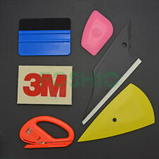 6IN1 Vinyl Auto Film Tool Kit 3M Wool Felt Squeegee Scraper Snitty Cutter Wrap