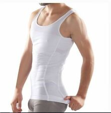 Beautyko USA Men's Body Builder Abs Tight Fit Trim Undershirt White XXL