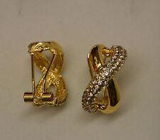 Dolly-Bijoux Bo 1/2 Créole Infini 20mm Pavé de Diamant Cz Blanc signé SL