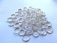 Silver Colored Jump Rings. 18 Ga. 10mm Approx. 100 Pieces.