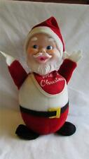 Vintage Merry Christmas Rubber Face Gund Santa Claus Chime Doll Gunderful 1950's