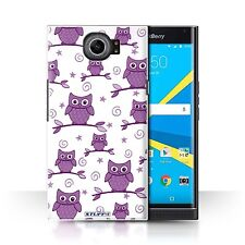 STUFF4 Back Case/Cover/Skin for BlackBerry Priv/Cute Owl Pattern