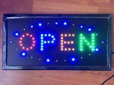 Top QUALITY lampeggiante colore Plain aprire negozio Segno neon luce finestra di visualizzazione