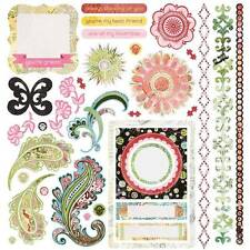 """Basic Grey * OUT OF PRINT * CARDSTOCK STICKER ELEMENTS * 12"""" x 12"""" SHEET"""