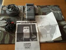 UNIDEN 40 CHANNEL KARATE EMERGENCY RESCUE CB RADIO + ANTENNA CORDS CASE MANUAL