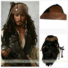 Film Pirates of the Caribbean Jack Sparrow Cosplay Wig + Hap+ Beard