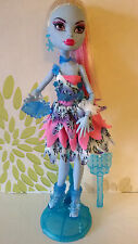 *Monster High Abbey Bominable Dot Dead Gorgeous Doll Plus Stand,Brush & Bag*Rare