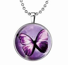 Fashion Punk Style Butterfly Glow in the Dark Stainless Steel Necklace Pendant