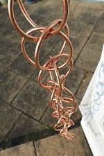 Rain Chains - Double Loop Rain Chain - copper plated 2.5M Long