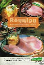 Publicité advertising 1997 Charcuterie le Jambon Fleury Michon
