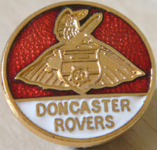 DONCASTER ROVERS Vintage club crest type badge Brooch pin In gilt 19mm x 19mm