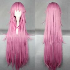 K NEKO Long Straight Purple Anime Cosplay Costume wig +Free CAP