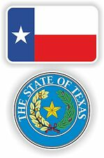 TEXAS State Flag + SEAL 2x bumper stickers decals USA