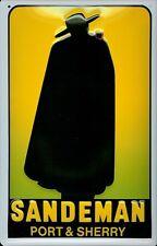 Blechschild Sandeman Port & Sherry Schild Nostalgie Werbeschild Kneipenschild