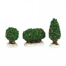 Department 56 General Village New 2015 HOLLY SHRUBS Set of 3 4047566 NIB Dept 56