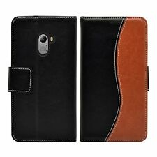 Wallet S-Line Leather Flip Case Cover For Lenovo Vibe K4 Note + 2 protectors