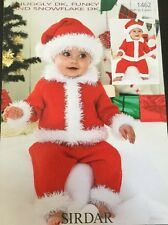 Sirdar Babies DK Knitting Pattern  Father Christmas  Birth To 2yrs
