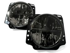 VW Golf MK2 2 Crystal Clear Black Euro E-Code Sport Headlight Headlamp Crosshair
