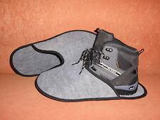 """""""nuevo """"sobre zapato, museumspantoffel, hüttenschuh de aguja fieltro en gris claro"""